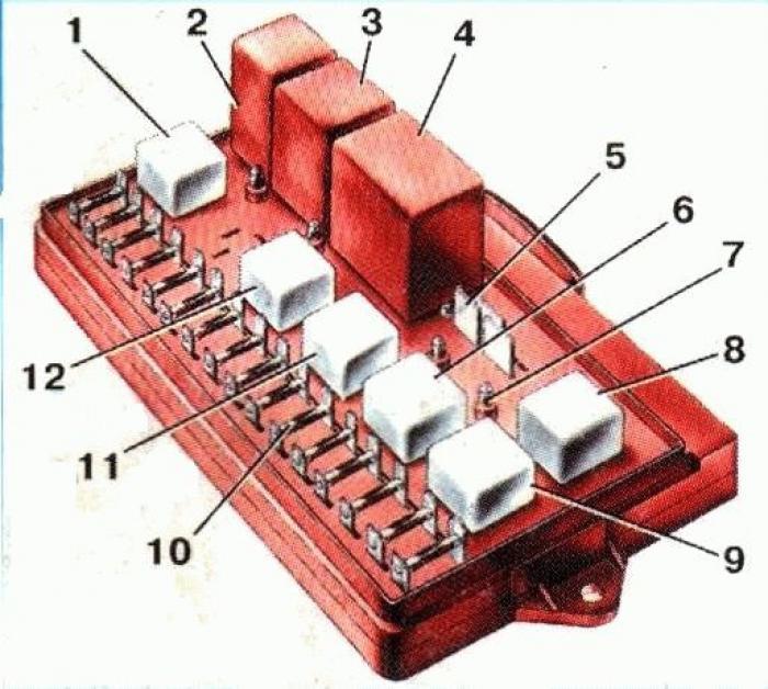 Схема и расположение предохранителей в блоке предохранителей ВАЗ-2109, 2108 и 21099