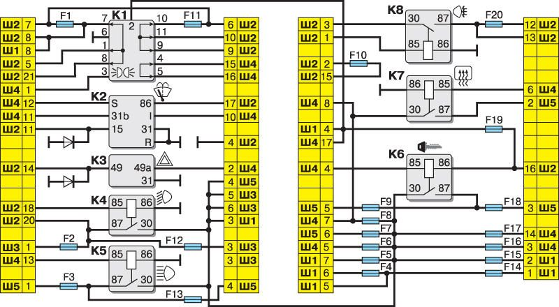 Блок предохранителей ВАЗ 2110 - схема и подключение, расположение